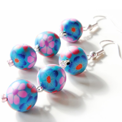 Polymer Clay beads earrings