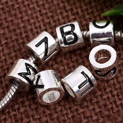 letter big hole bead