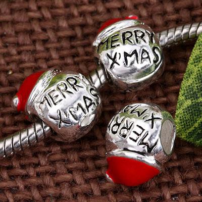 merry xmas metal europan bead